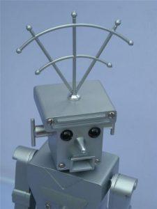 grandpas robot art retro designer remote controlled