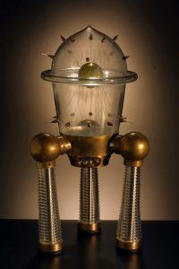 mike slobots likes rik allen mid century modern blown glass rocketships