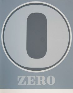 robert indiana creely numbers serigraphs zero 0