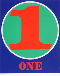 robert indiana creely numbers serigraphs one 1